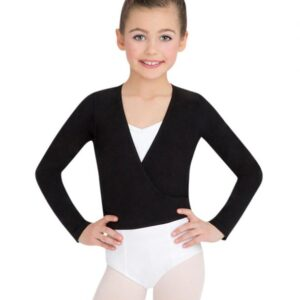 Capezio Children's Long Sleeve Self-Tie Wrap Top