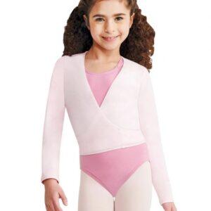 Capezio Children's Long Sleeve Self-Tie Wrap Top